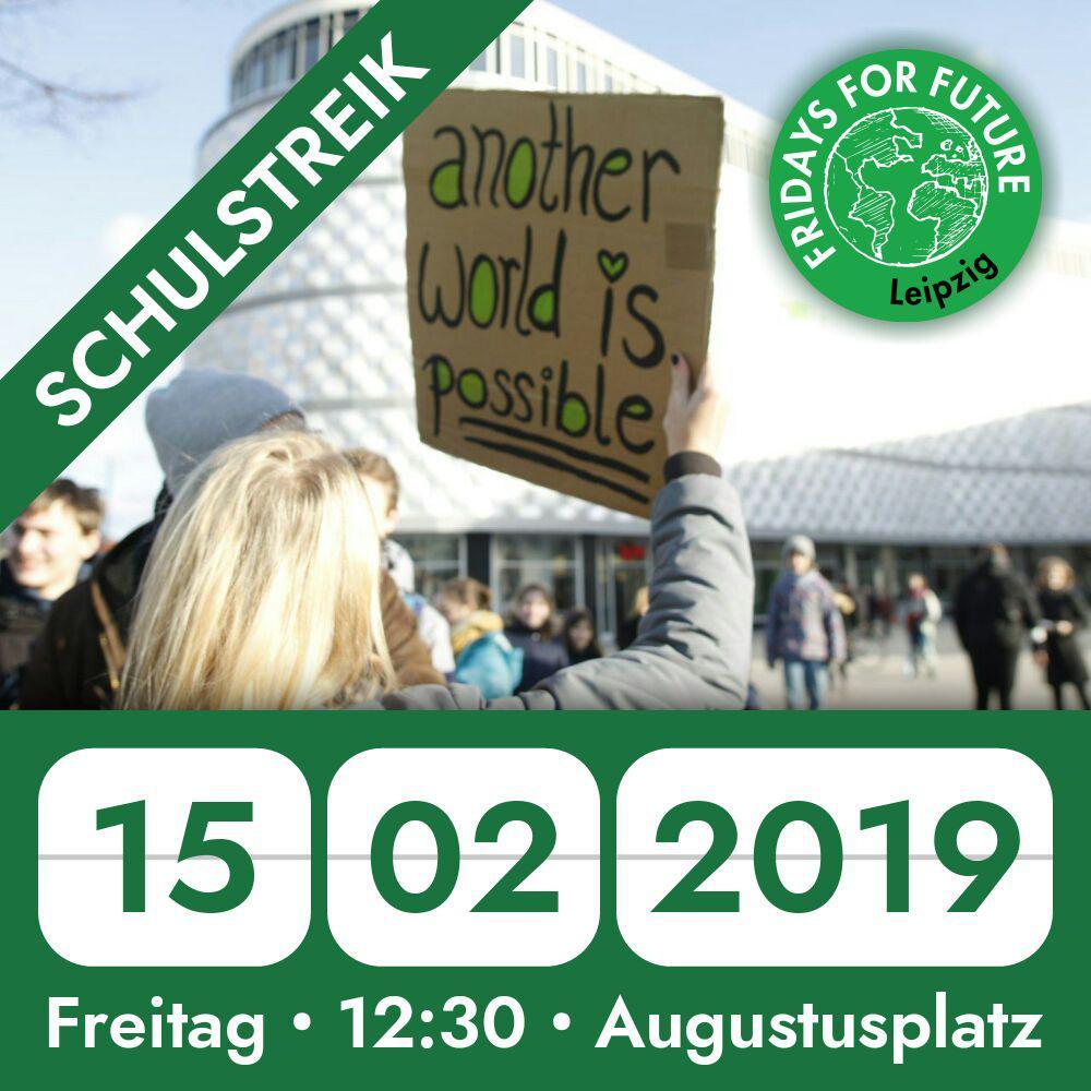 Aufruf zum Schülerstreik – Fridays for Future Leipzig,15.02.
